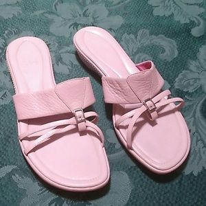 Cole Haan Pink Leather Nike Air Sandals size 9.5 B